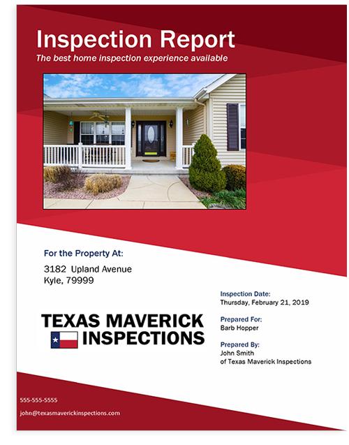 Horizon TREC Compliant Inspection Report Cover