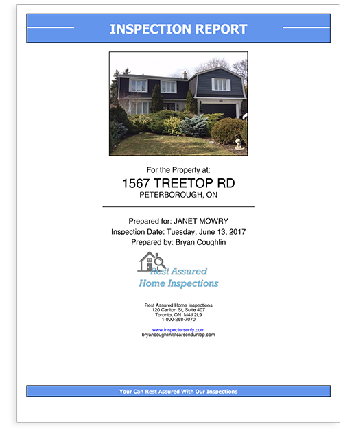 Horizon Home Inspection Report Cover