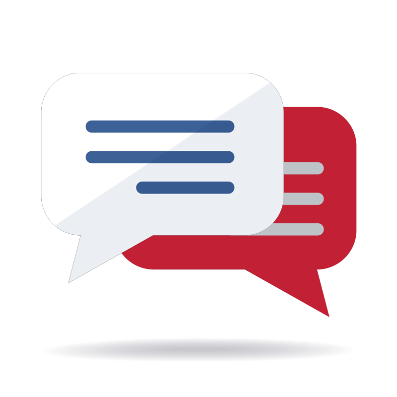 Speech bubbles icon illustration