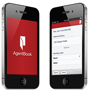 Horizon Agentbook app shown on an Iphone device