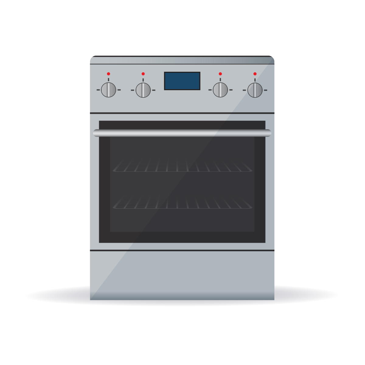 Stainless steal oven illustration