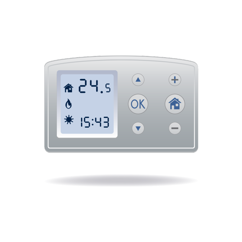 heat and air conditioning control panel