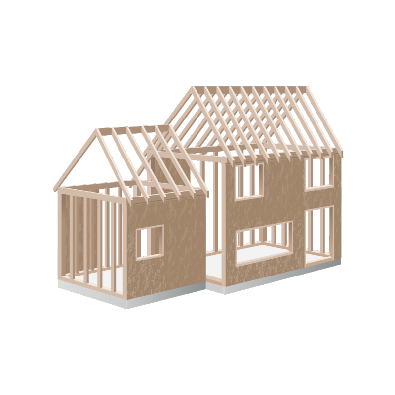 structure frame of new house as icon for structure home inspection course